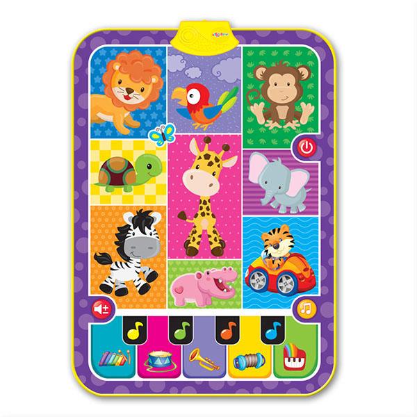 Купить Азбукварик 2023AZ Музыкальный коврик Мои зверята , Музыкальная игрушка Азбукварик