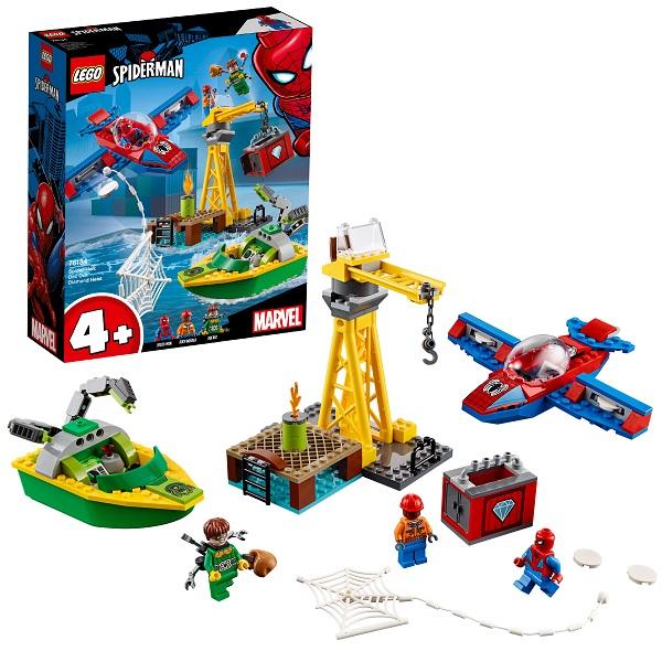 Купить LEGO Super Heroes 76134 Конструктор ЛЕГО Человек-паук: Похищение бриллиантов Доктором Осьминогом, Конструкторы LEGO