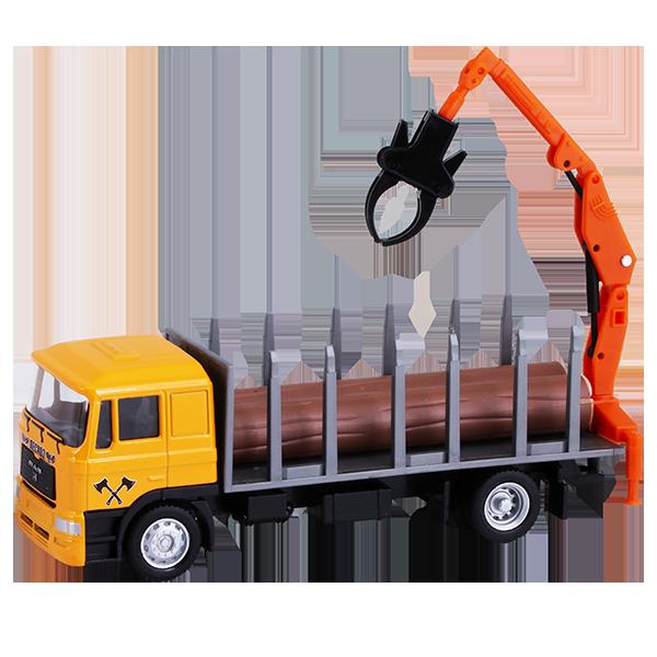 Игрушечные машинки и техника ТМ Wincars — Wincars U1401A-4 Лесовоз с бревнами
