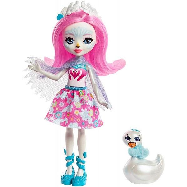 Mattel Enchantimals FRH38 Кукла с питомцем  Лебедь Саффи