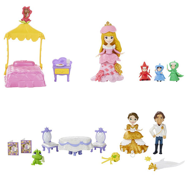 Купить Hasbro Disney Princess B5341 Принцессы Дисней Маленькая кукла и сцена из фильма (в ассортименте), Кукла Hasbro Disney Princess