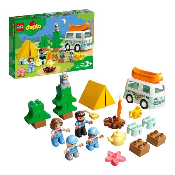 Купить LEGO DUPLO 10946 Конструктор ЛЕГО ДУПЛО Семейное приключение на микроавтобусе, Конструктор LEGO
