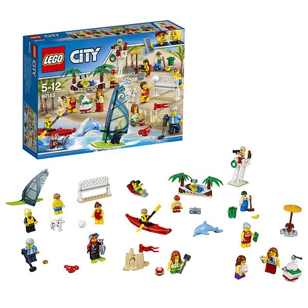 Lego City 60153 Конструктор Лего Город Отдых на пляже  жители LEGO CITY, арт:149790 - Город, Конструкторы LEGO