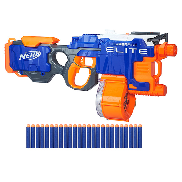 Купить Hasbro Nerf B5573 Нерф Бластер Элит Хайперфайр (бластер), Игрушечное оружие Hasbro Nerf