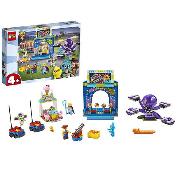 Купить LEGO Juniors 10770 Конструктор Лего Джуниорс История игрушек-4: Парк аттракционов Базза и Вуди, Конструкторы LEGO