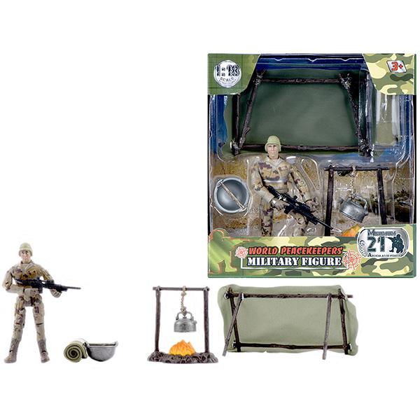 """Игровые наборы и фигурки для детей World Peacekeepers MC77016 Игровой набор """"WP. Привал"""" 1:18, (1 фигурка) фото"""
