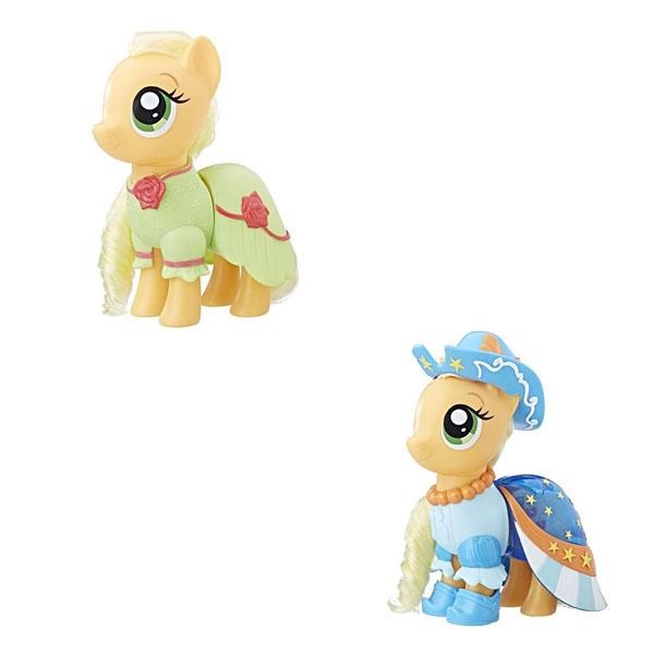 Купить Hasbro My Little Pony C0721/C1821 Май Литл Пони Пони-модницы Сияние Эпплджек оранжевая, Игровой набор Hasbro My Little Pony