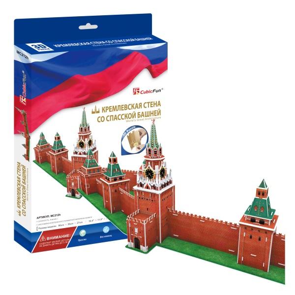 Купить Cubic Fun MC212h Кубик фан Кремлевская стена со Спасской башней (Россия), 3D пазлы Cubic Fun