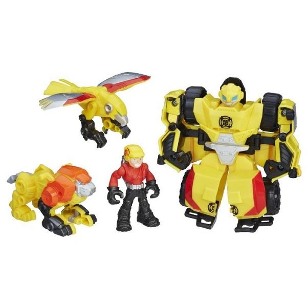 """Игровые наборы и фигурки для детей Hasbro Playskool Heroes C0212/C0296 Трансформеры Спасатели Набор спасателей """"Отряд Бамблби"""" фото"""