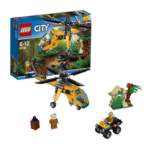 Купить Lego City 60158 Лего Город Грузовой вертолёт исследователей джунглей, Конструктор LEGO