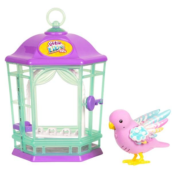 Little Live Pets 28547 Птичка с клеткой со светящимися крылышками Радужный Свет