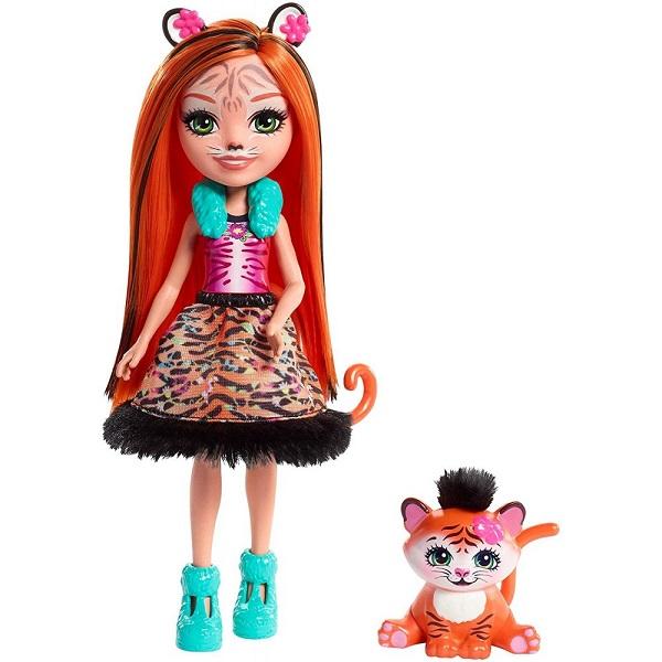Купить Mattel Enchantimals FRH39 Кукла с питомцем - Тигрица Тэнзи, Куклы и пупсы Mattel Enchantimals