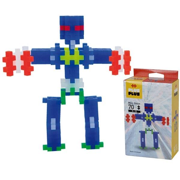 Plus Plus 3753 Разноцветный конструктор для создания 3D моделей(робот коричневый) - Конструкторы для мальчиков и девочек