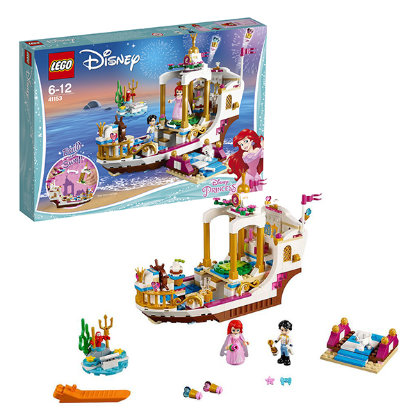LEGO Disney Princess 41153 Конструктор ЛЕГО Принцессы Дисней Королевский корабль Ариэль, Конструкторы LEGO  - купить со скидкой