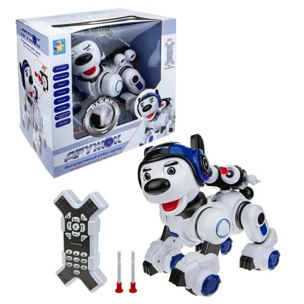 Купить 1toy T16453 Интерактивный радиоуправляемый Робот-Щенок ДРУЖОК