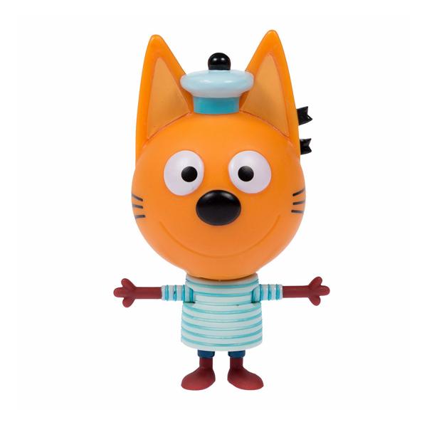 """Игровые наборы и фигурки для детей Три кота T16176 Фигурка """"Коржик"""" с корабликом, 7,6 см, подвижные ножки и ручки, на блистере фото"""