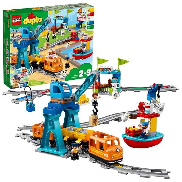 Купить LEGO DUPLO 10875 Конструктор ЛЕГО ДУПЛО Грузовой поезд, Конструкторы LEGO