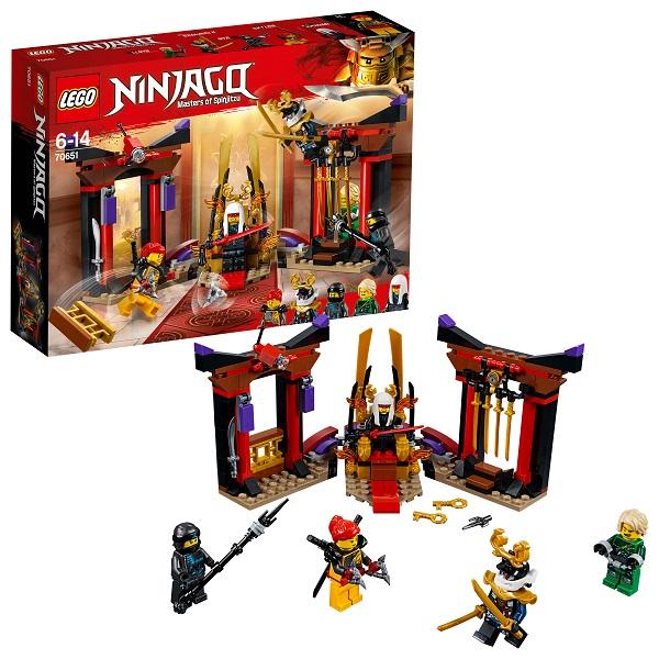 Купить Lego Ninjago 70651 Конструктор Лего Ниндзяго Решающий Бой в Тронном Зале, Конструкторы LEGO
