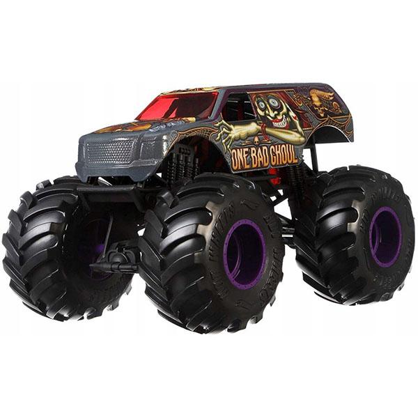 Купить Mattel Hot Wheels GBV39 Хот Вилс Монстр трак 1:24 ONE BAD GHOU, Игрушечные машинки и техника Mattel Hot Wheels