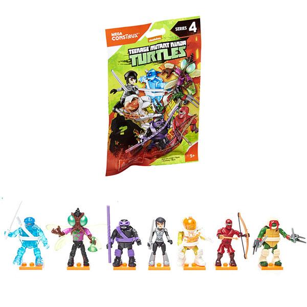 Mattel Mega Bloks FDB65 Мега Блокс Черепашки Ниндзя: персонажи мультфильма (в ассортименте) - Игрушки для малышей
