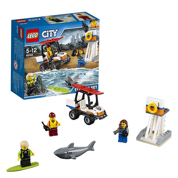 LEGO City 60163 Конструктор ЛЕГО Город Набор для начинающих Береговая охрана, Конструктор LEGO  - купить со скидкой
