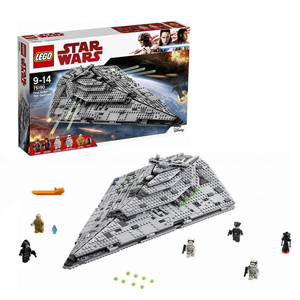 Lego Star Wars 75190 Конструктор Лего Звездные Войны Звездный разрушитель первого ордена, арт:150661 - Звездные войны, Конструкторы LEGO