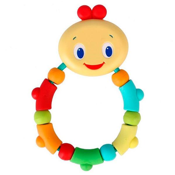 Купить BRIGHT STARTS 10221 Развивающая игрушка-прорезыватель Гусеничка оранжевая, Развивающие игрушки для малышей BRIGHT STARTS