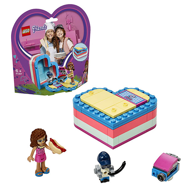 Купить LEGO Friends 41387 Конструктор ЛЕГО Подружки Летняя шкатулка-сердечко для Оливии, Конструкторы LEGO