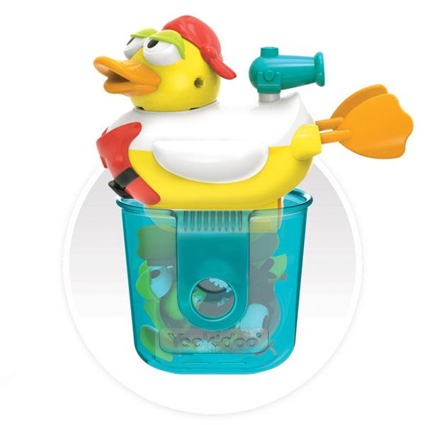 """Игрушки для ванной Yookidoo 40170 Игрушка водная """"Утка-пират"""" с водометом и аксессуарами фото"""