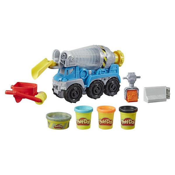 Купить Hasbro Play-Doh E6891 Игровой набор Wheels Бетономешалка , Пластилин и масса для лепки Hasbro Play-Doh