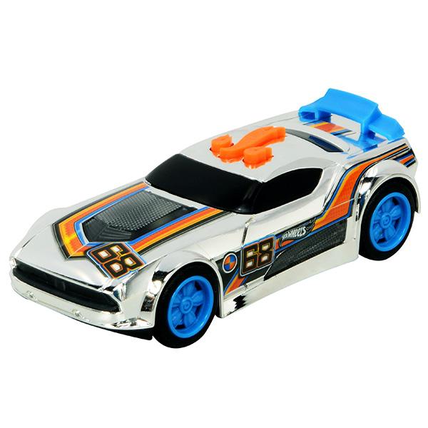 Купить Hot Wheels HW90602 Машинка Хот вилс на батарейках свет+звук, спойлер голубой 13, 5 см, Машинка Toy State