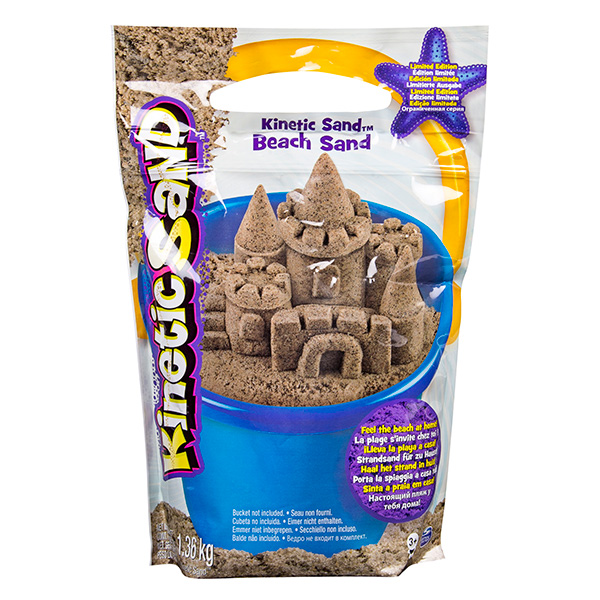 Купить Kinetic sand 71435 Кинетик сэнд Морской песок 1, 4 кг коричневый, Кинетический песок Kinetic sand