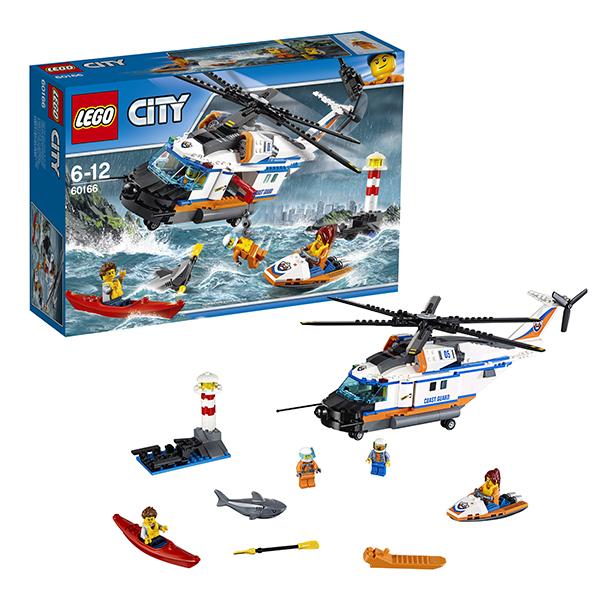 Купить Lego City 60166 Лего Город Сверхмощный спасательный вертолёт, Конструктор LEGO