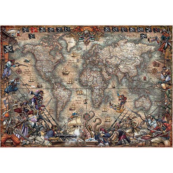 Купить Educa 18008P Пазл 2000 деталей Пиратская карта , Пазлы Educa