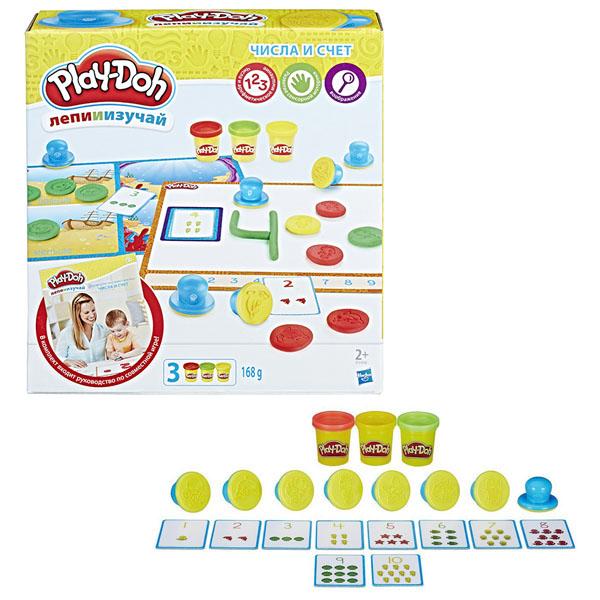 Купить Hasbro Play-Doh B3406 Игровой набор Цифры и числа , Пластилин Hasbro Play-Doh