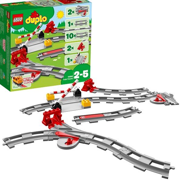 Купить LEGO DUPLO 10882 Конструктор ЛЕГО ДУПЛО Рельсы и стрелки, Конструкторы LEGO