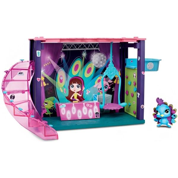 Игровой набор Hasbro Littlest Pet Shop Littlest Pet Shop B0118 Литлс Пет Шоп Мини-игровой набор DJ Блайс B0118