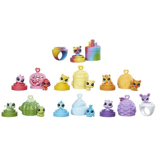 Купить Hasbro Littlest Pet Shop C0796 Литлс Пет Шоп: Радужная коллекция - 13 крошечных радужных петов, Игровые наборы Hasbro Littlest Pet Shop