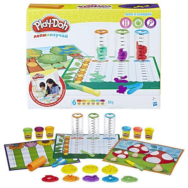 Купить Hasbro Play-Doh B9016 Игровой набор Сделай и измерь , Пластилин Hasbro Play-Doh