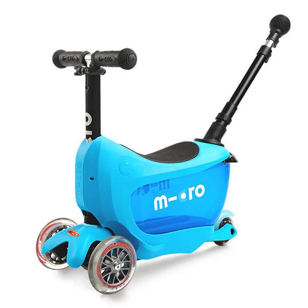 Самокаты Micro MMD034 Самокат Mini2Go Deluxe Plus, синий фото
