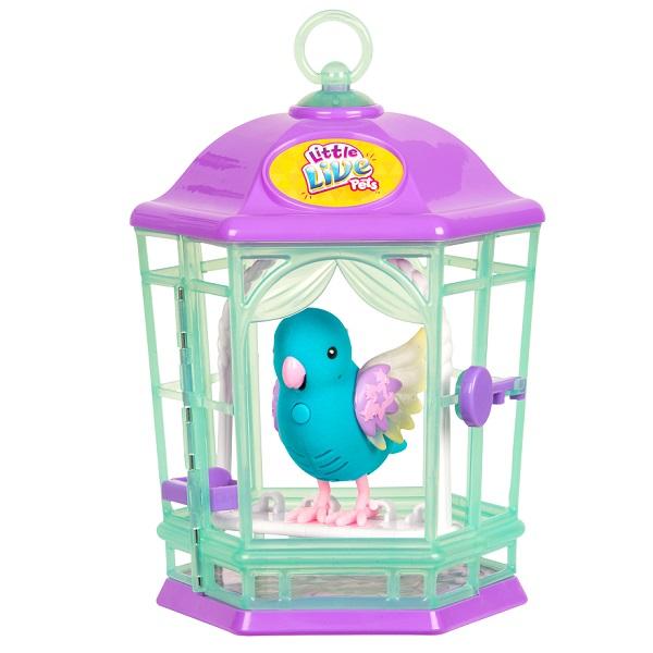 Little Live Pets 28548 Птичка с клеткой со светящимися крылышками Небесный Колокольчик