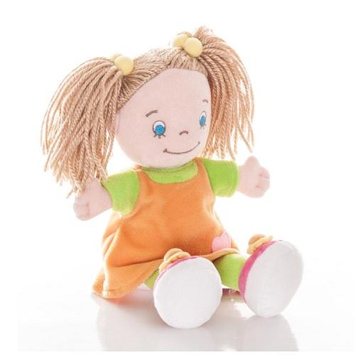 Aurora 50-186 Аврора Кукла-девочка в оранжевом платье, 25 см