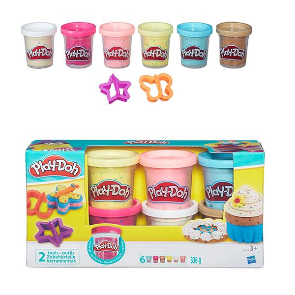 Купить Hasbro Play-Doh B3423 Игровой набор из 6 баночек с конфетти, Пластилин Hasbro Play-Doh