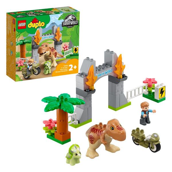 LEGO DUPLO 10939 Конструктор ЛЕГО ДУПЛО Jurassic World Побег динозавров: тираннозавр и трицератопс, Конструктор LEGO  - купить со скидкой