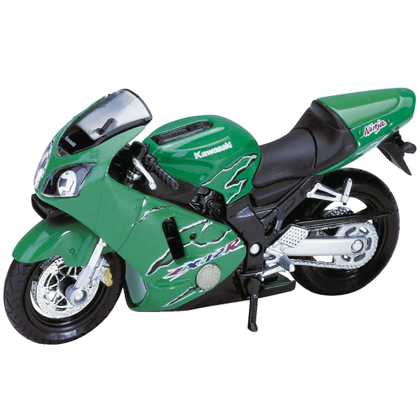 Купить Welly 12167P Велли Модель мотоцикла 1:18 MOTORCYCLE / KAWASAKI 2001 NINJA ZX-12R, Мотоцикл Welly