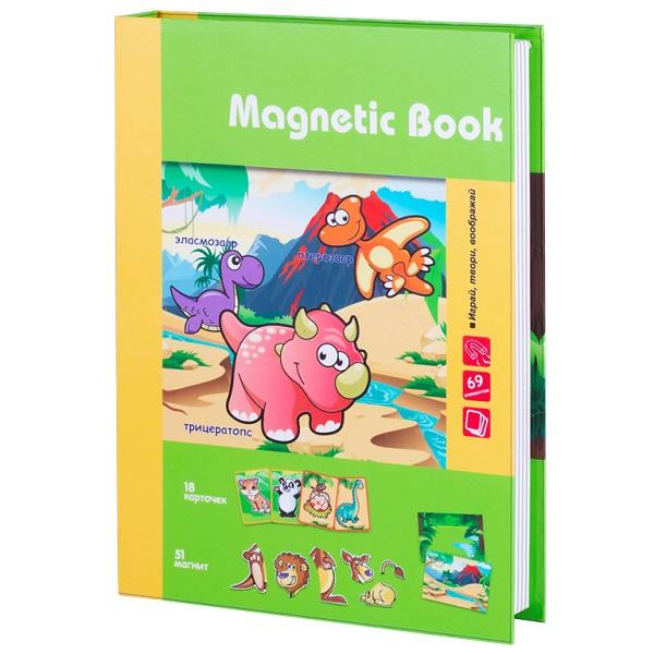 Купить Magnetic Book TAV031 Развивающая игра Живность тогда и теперь , 87 деталей, Настольные игры Magnetic Book