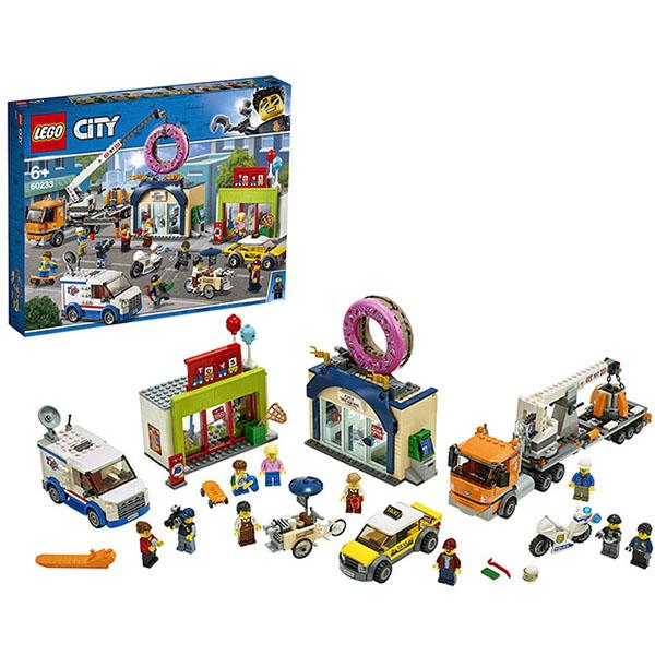 Купить LEGO City 60233 Конструктор ЛЕГО Открытие магазина по продаже пончиков, Конструктор LEGO
