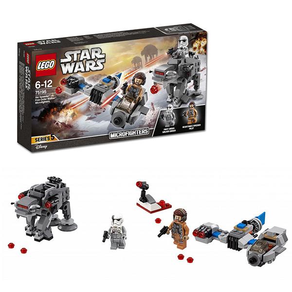 Купить Lego Star Wars 75195 Лего Звездные Войны Бой пехотинцев Первого Ордена против спидера на лыжах, Конструкторы LEGO
