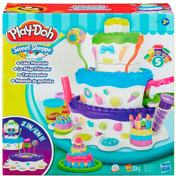 Купить Hasbro Play-Doh A7401 Игровой набор Праздничный торт, Набор для творчества Hasbro Play-Doh