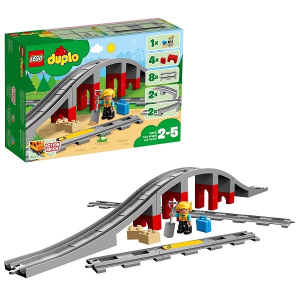 Купить Lego Duplo 10872 Конструктор Лего Дупло Железнодорожный мост и рельсы, Конструкторы LEGO